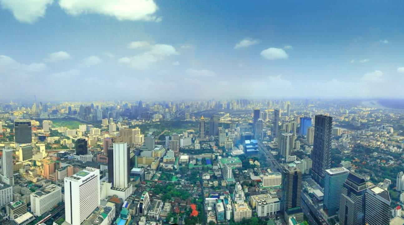 King Power MahaNakhon and the Bangkok cityscape in the morning